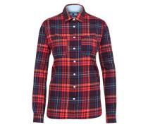 Kariertes Hemd 'janet Tartan Flannel Shirt LS W3' navy / gelb / rot