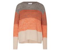 Pullover 'vikeny' beige / graumeliert / rostrot