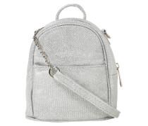 Umhängetasche 'mini Backpack' silber