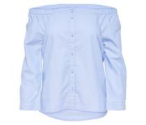 Off-Shoulder-Langarmhemd hellblau