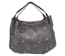 Shopper 'Stars' greige / weiß