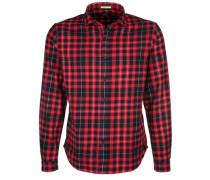 Hemd 'flanell Check' rot / schwarz