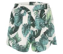 'Vipalmas' Shorts smaragd / offwhite