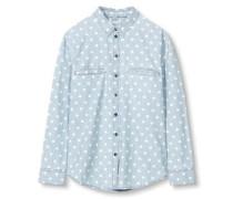 Bluse'mini print denm Blouses denim' hellblau