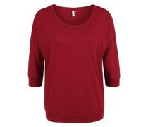 Fledermausshirt aus Jersey rot