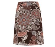 Chiffonrock mit Allover-Print braun / mischfarben