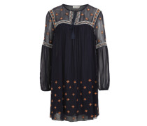 Chiffon-Kleid 'Louvre' blau