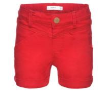 Slim Twill-Shorts rot