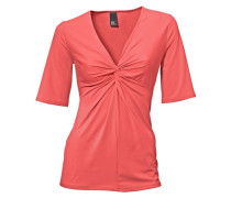 Knotenshirt orange / rot
