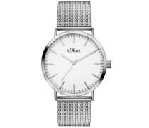 Armbanduhr »So-3145-Mq« silber