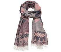 Jacquard-Schal grau / pink