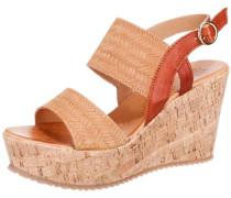 Sandaletten 'Julia' hellbraun / rostrot