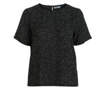 Kurzärmelige Bluse schwarz
