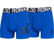 Boxer Boys Trunk 2er Pack blau / schwarz / weiß