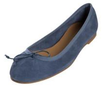 Wildleder-Ballerinas blau