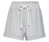 Shorts 'Adanya' grau / weiß