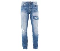 Curt Straight: Jeans im Destroyed-Look blue denim