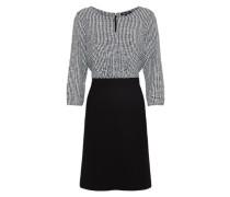 Klassisches Kleid schwarz / offwhite