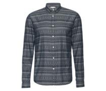 Hemd 'fully jacquard shirt' schwarz
