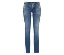 Jeans im Used Look 'Jonquil' blue denim