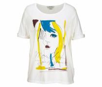 T-Shirt royalblau / gelb / weiß