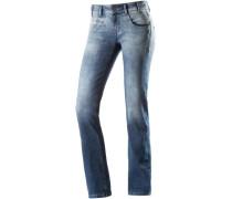 Silca Straight Fit Jeans Damen blue denim