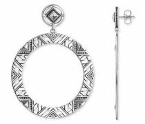 Paar Ohrstecker 'Afrika Ornamente H1930-637-21' schwarz / silber