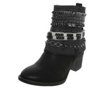 Ankle Boots im Cowboy-Look schwarz