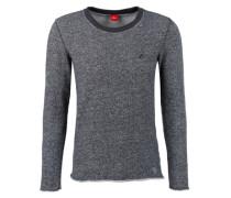 Meliertes Sweatshirt schwarz