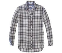 "Bluse ""thdw Basic Check Shirt L/S 28"" oliv / naturweiß"