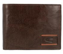 Geldbörse 'Panama' aus Leder 125 cm dunkelbraun