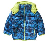 Winterjacke für Jungen blau / dunkelblau / apfel