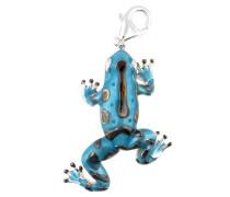 Charm Frosch XL blau / silber
