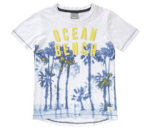 T-Shirt für Jungen himmelblau / weiß