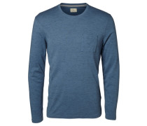 Crew-Neck-T-Shirt blau