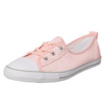 Ballerina mit Schnürung rosa / weiß
