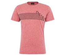 T-Shirt 't-Joe-Qf' in Melange-Optik rotmeliert / schwarz