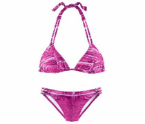 Triangel-Bikini in Jeansoptik pink