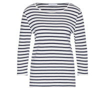 Shirt 'venato O-Neck 3716' blau / weiß