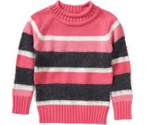 Pullover für Mädchen pink / hellpink / schwarz / weiß