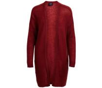 Gestrickte Strickjacke 'objada Deluxe Knit Cardigan' rubinrot