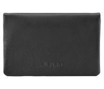 Brooklyn Geldbörse Leder 6 cm schwarz