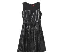 Schimmerndes Pailletten-Kleid schwarz