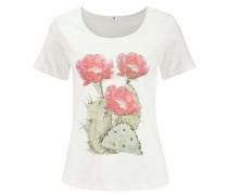 T-Shirt pastellgrün / rosé / wollweiß