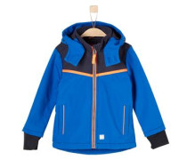 Multifunktionale Softshell-Jacke blau / orange / schwarz