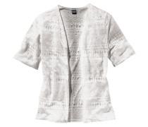 Shirtjacke mit trendigem Ausbrenner-Effekt für Mädchen grau / weiß