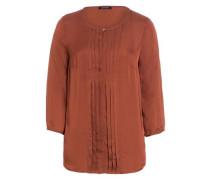 Bluse rostbraun / kupfer / orange