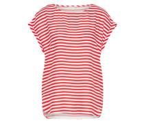 Blusenshirt rot / weiß