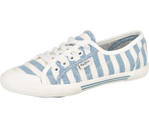 Sneakers 'Abernew Stripes' rauchblau / weiß