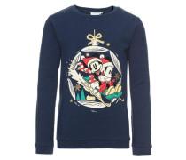 Sweatshirt nitminnie julie nachtblau / rot / weiß